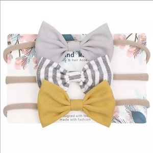 Other - Brand New Set of 3 Baby Toddler Girl Headbands